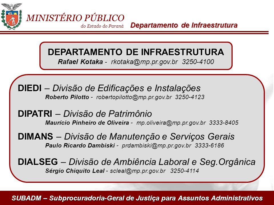 DEPARTAMENTO DE INFRAESTRUTURA
