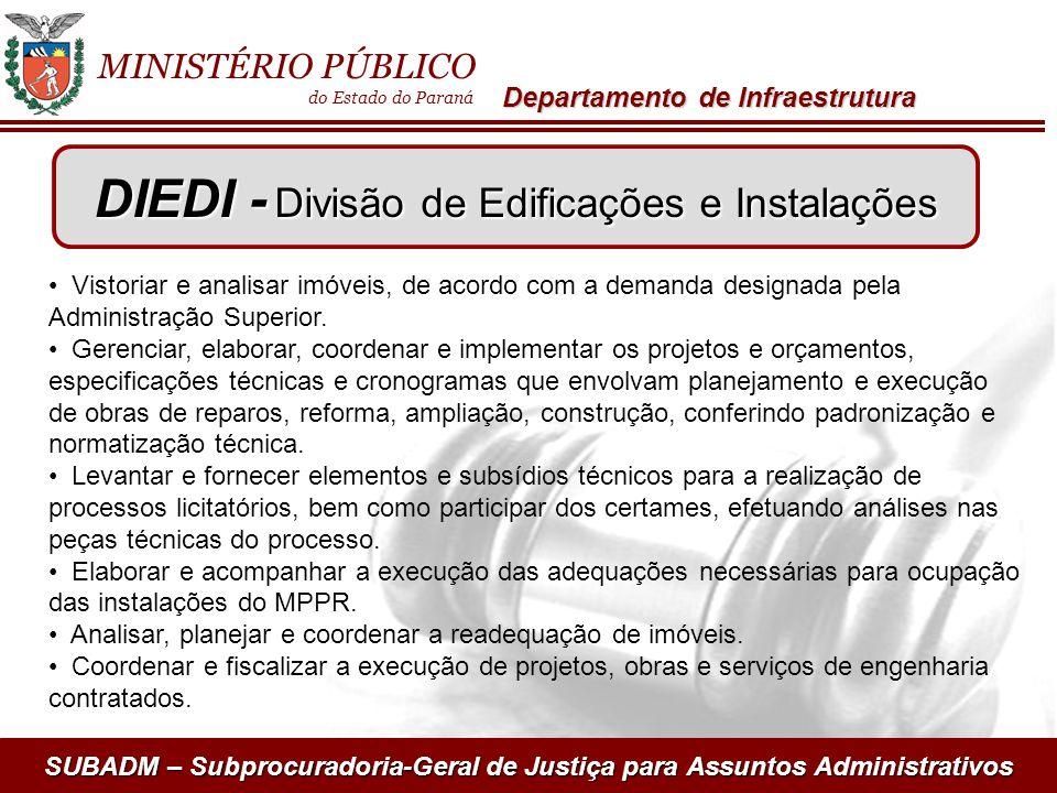 DIEDI - Divisão de Edificações e Instalações