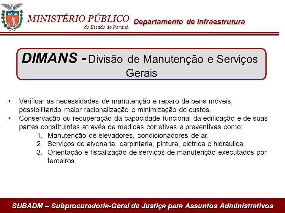 DIMANS - Divisão de Manutenção e Serviços