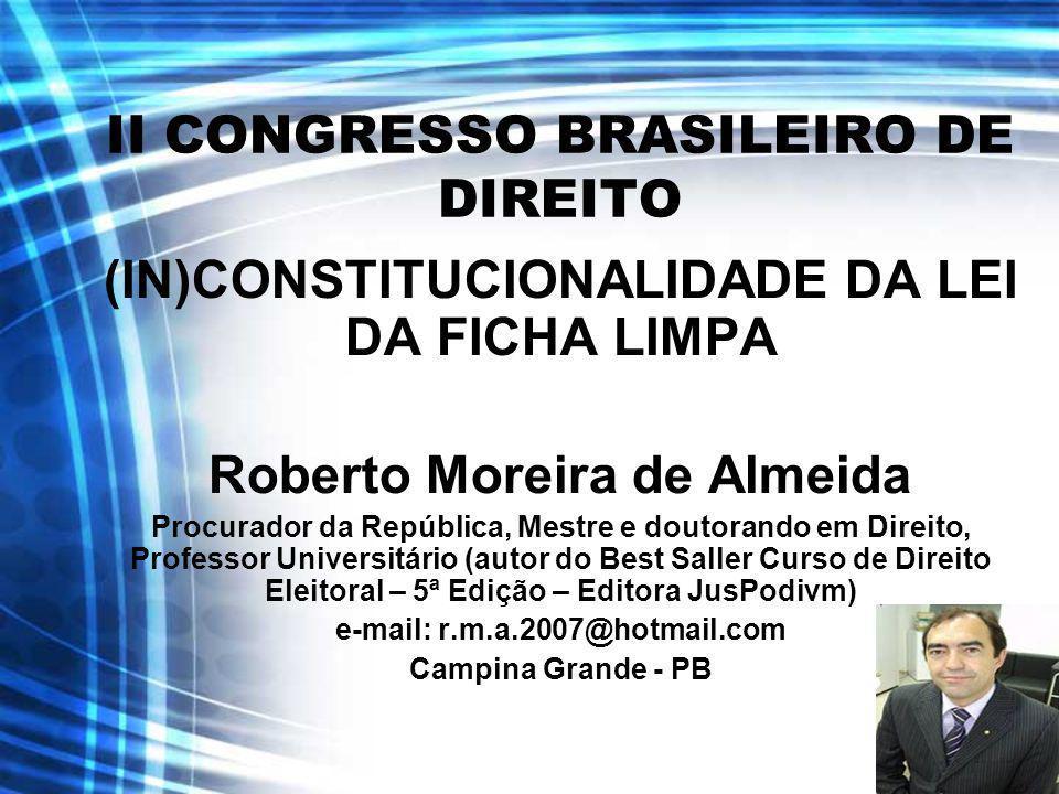 II CONGRESSO BRASILEIRO DE DIREITO