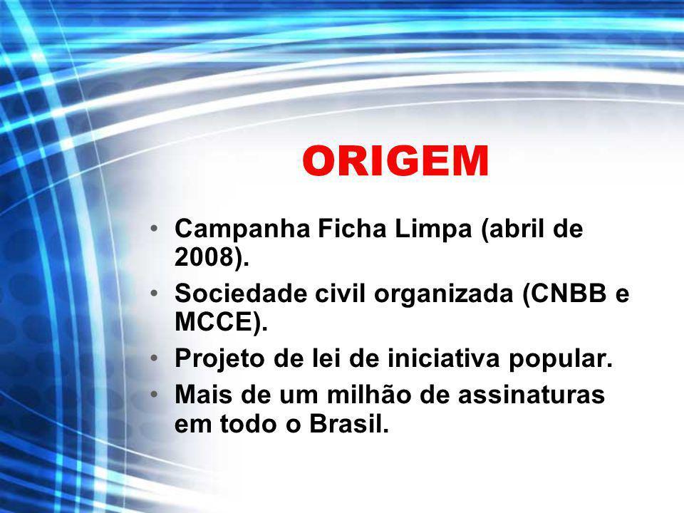ORIGEM Campanha Ficha Limpa (abril de 2008).