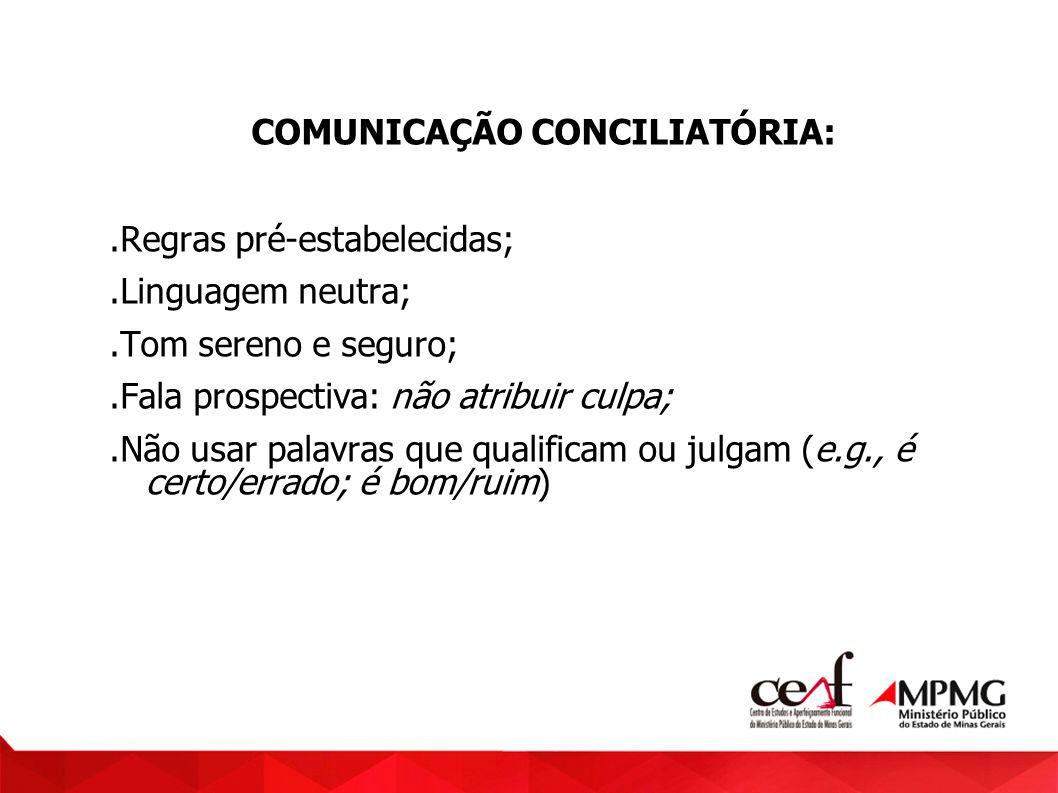 COMUNICAÇÃO CONCILIATÓRIA: