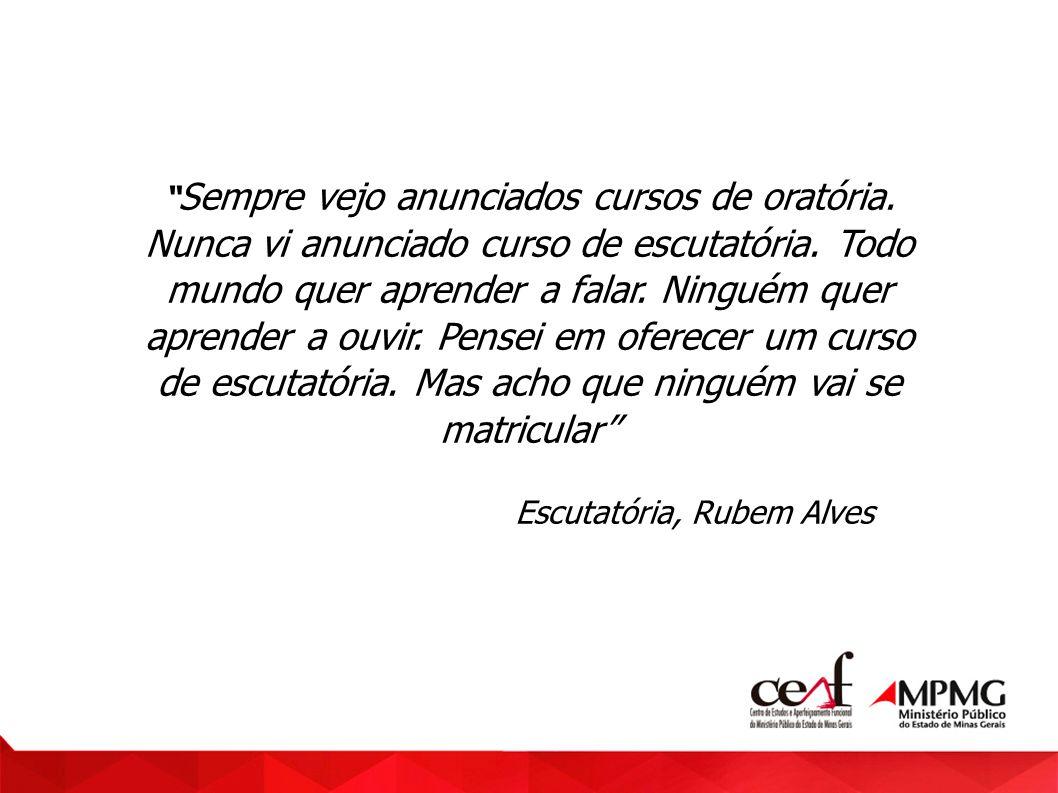 Escutatória, Rubem Alves