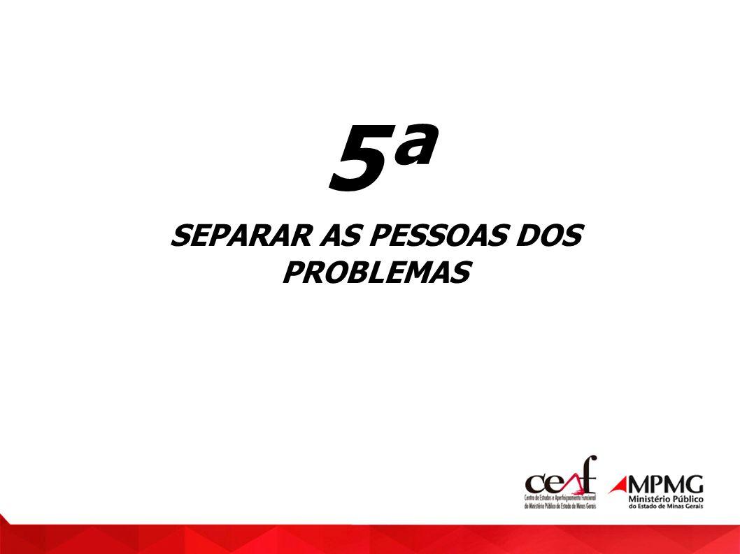 SEPARAR AS PESSOAS DOS PROBLEMAS