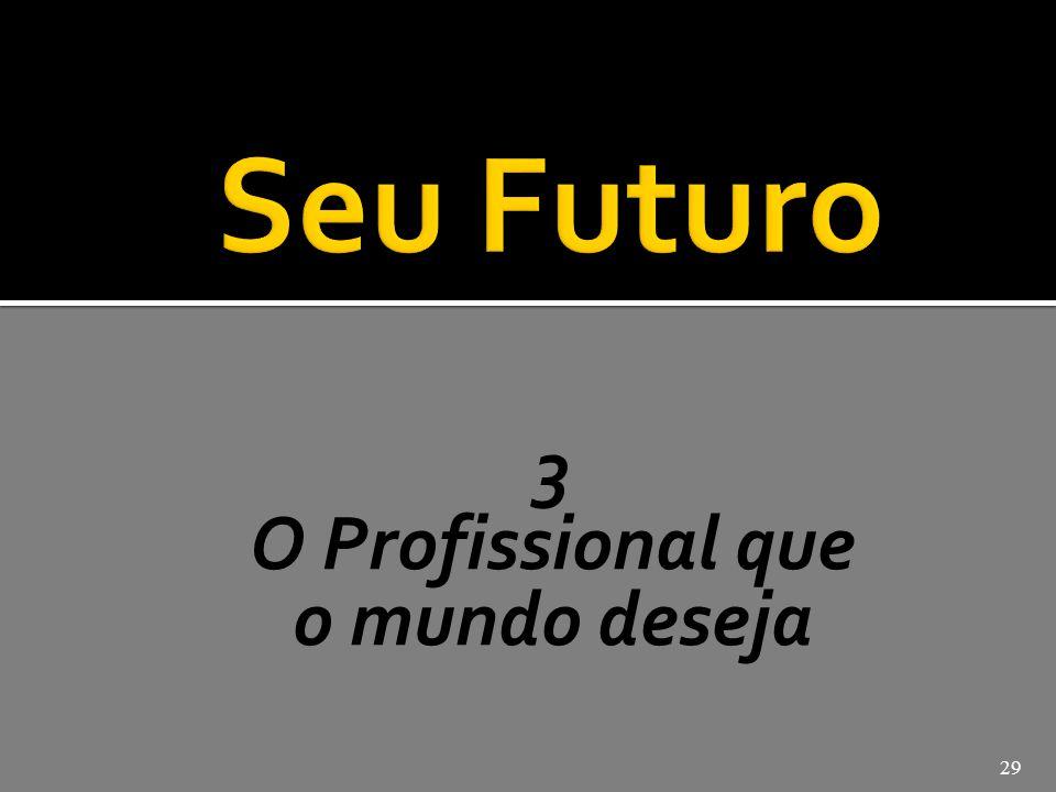 José Pio Martins Seu Futuro 3 O Profissional que o mundo deseja