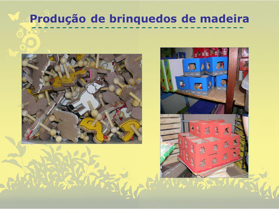 Produção de brinquedos de madeira