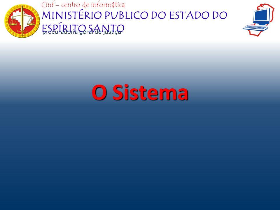O Sistema MINISTÉRIO PUBLICO DO ESTADO DO ESPÍRITO SANTO