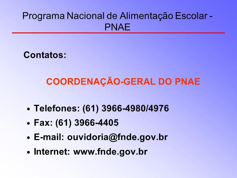 Programa Nacional de Alimentação Escolar - PNAE