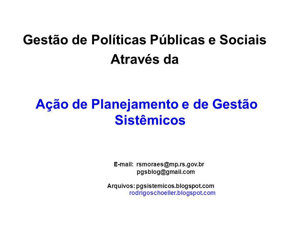 Gestão de Políticas Públicas e Sociais Através da