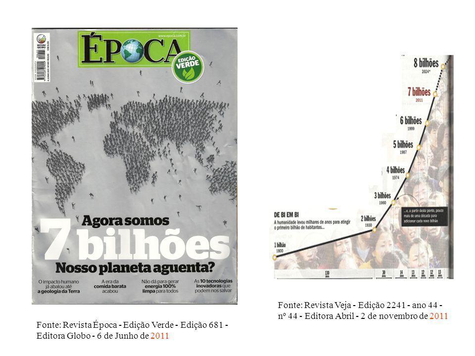 Fonte: Revista Veja - Edição 2241 - ano 44 - nº 44 - Editora Abril - 2 de novembro de 2011