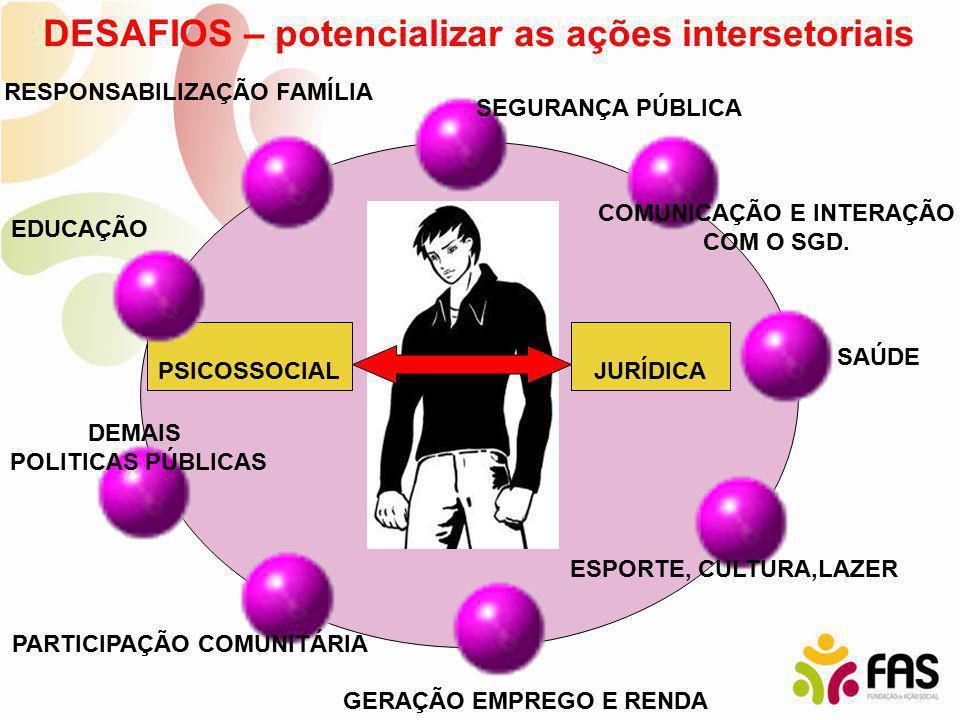 DESAFIOS – potencializar as ações intersetoriais