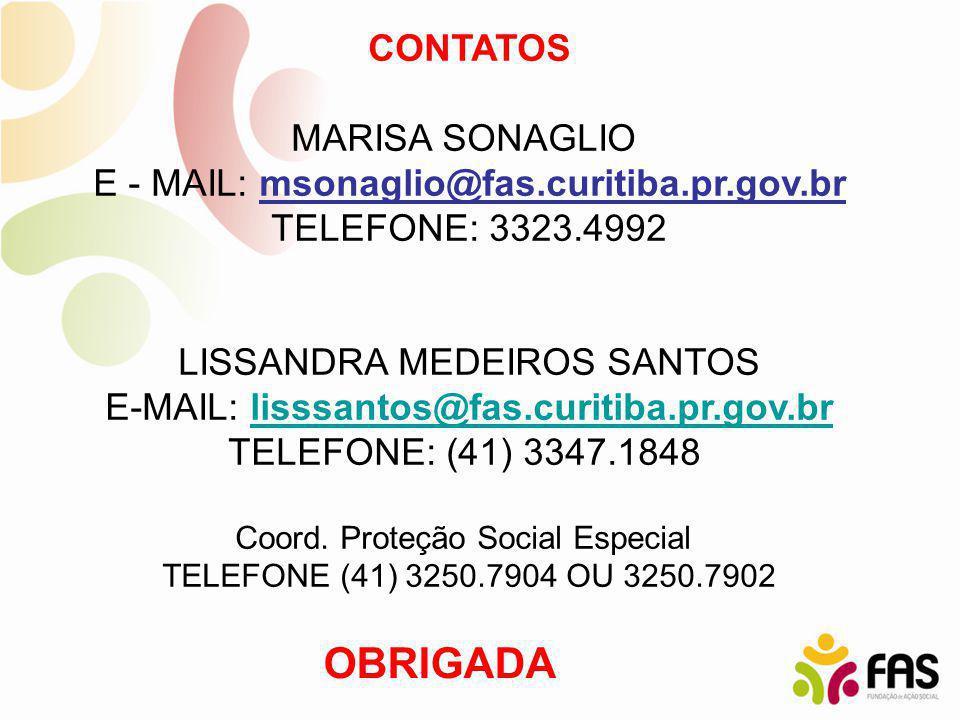OBRIGADA CONTATOS MARISA SONAGLIO