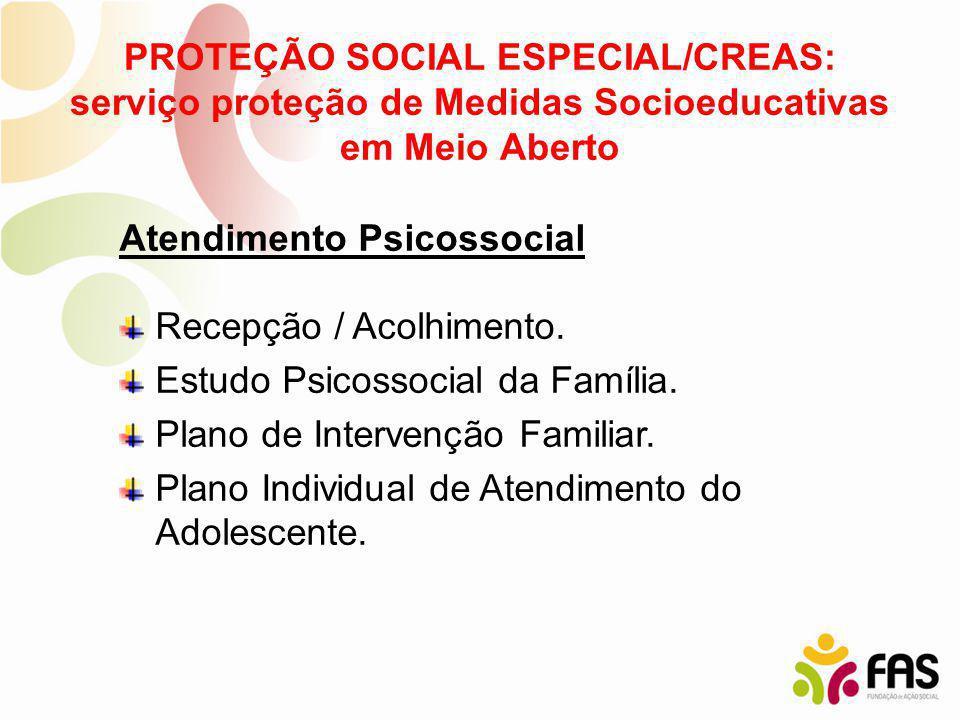 PROTEÇÃO SOCIAL ESPECIAL/CREAS: serviço proteção de Medidas Socioeducativas em Meio Aberto