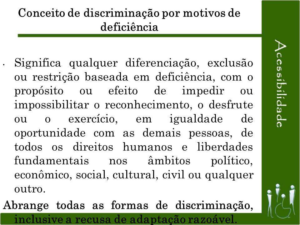Conceito de discriminação por motivos de deficiência