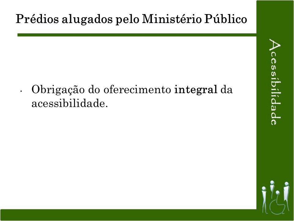 Prédios alugados pelo Ministério Público