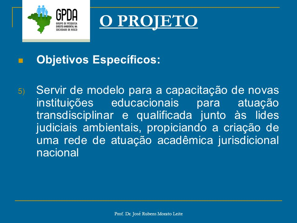 Prof. Dr. José Rubens Morato Leite