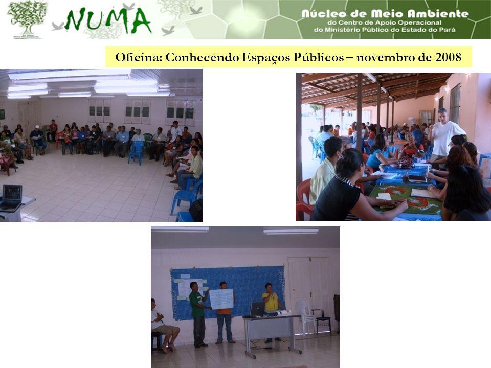 Oficina: Conhecendo Espaços Públicos – novembro de 2008