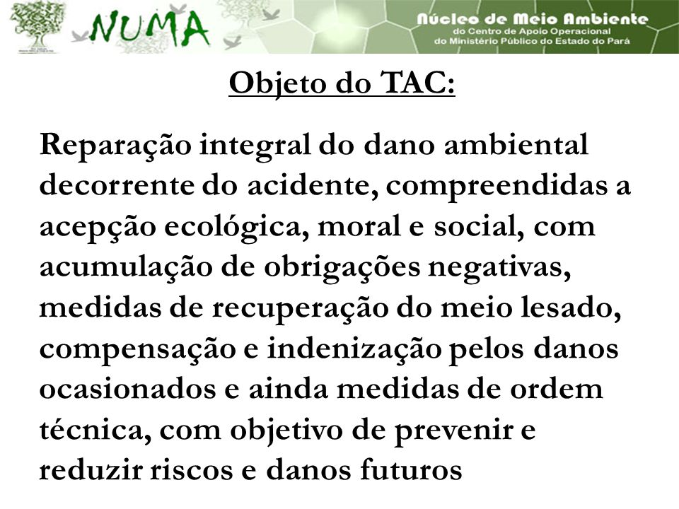 Objeto do TAC: