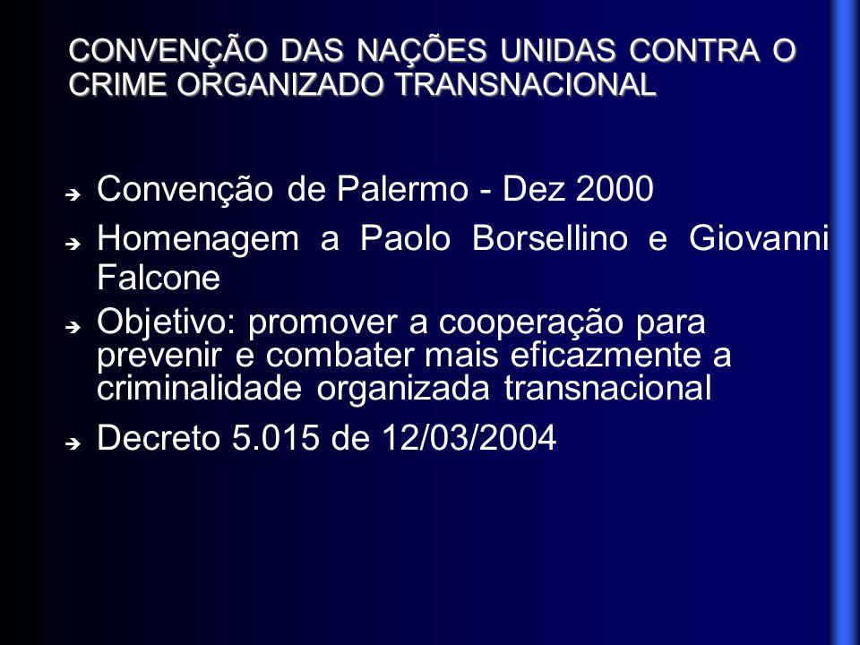 CONVENÇÃO DAS NAÇÕES UNIDAS CONTRA O CRIME ORGANIZADO TRANSNACIONAL