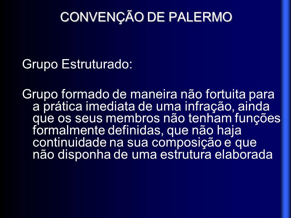 CONVENÇÃO DE PALERMO Grupo Estruturado:
