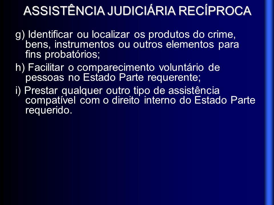 ASSISTÊNCIA JUDICIÁRIA RECÍPROCA