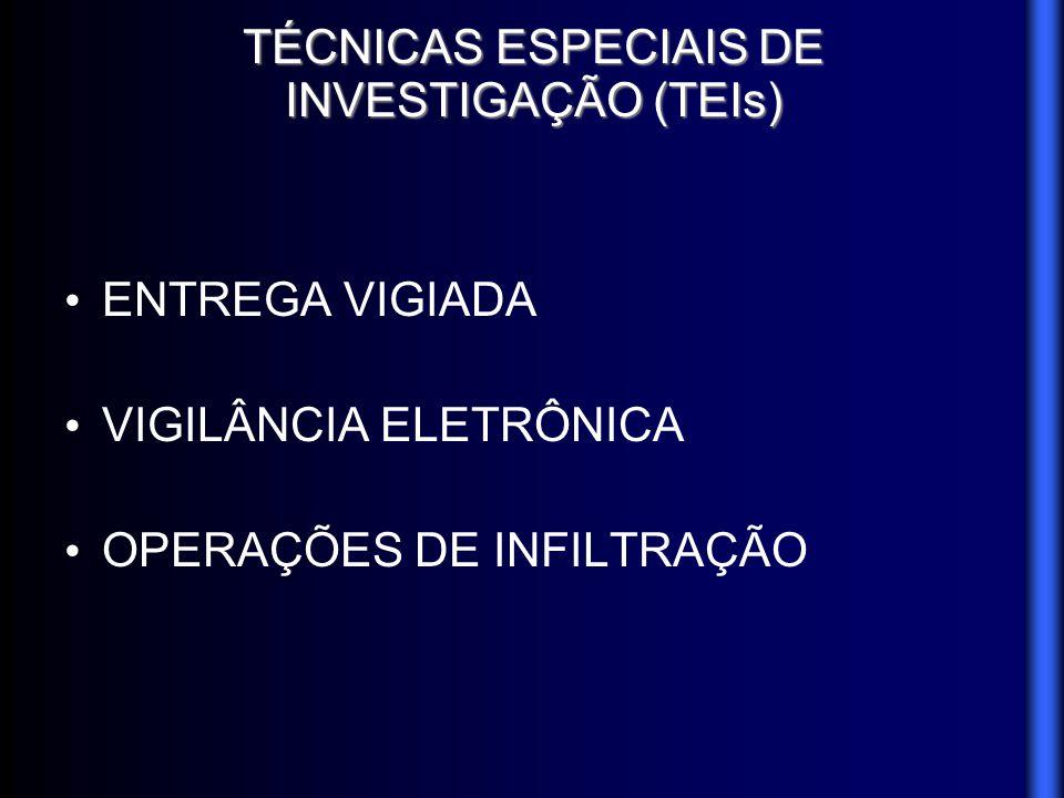 TÉCNICAS ESPECIAIS DE INVESTIGAÇÃO (TEIs)