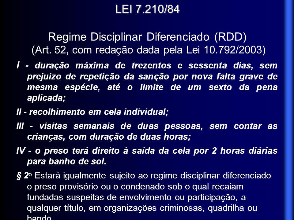 Regime Disciplinar Diferenciado (RDD)
