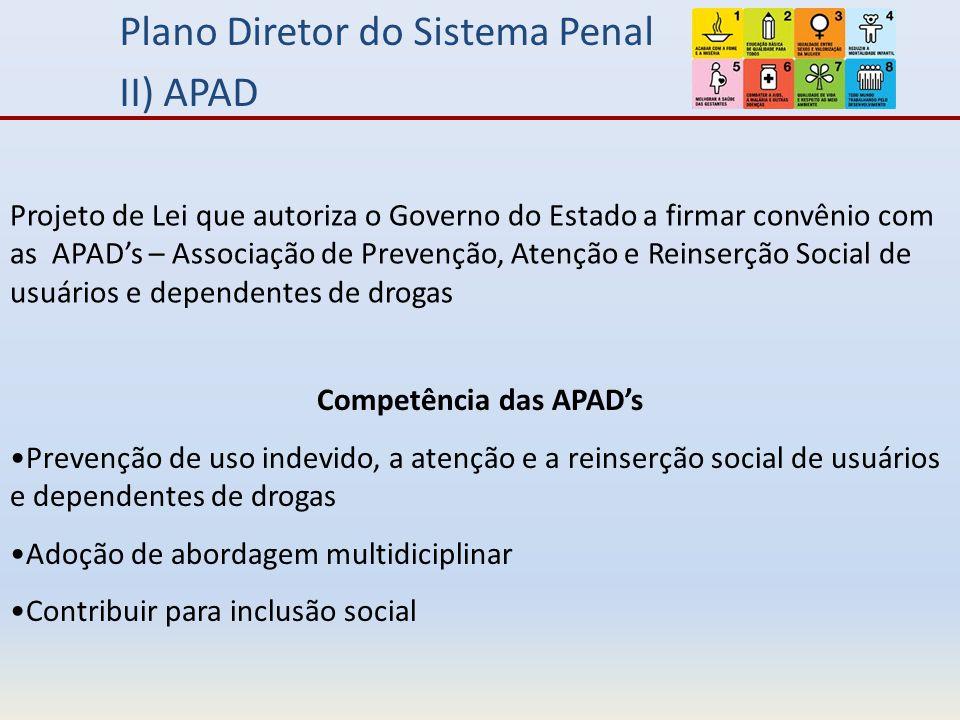 Competência das APAD's