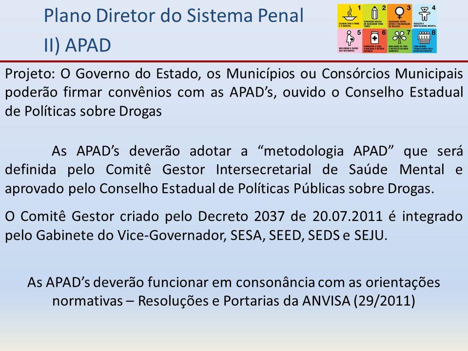 Plano Diretor do Sistema Penal II) APAD
