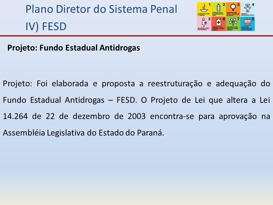 Plano Diretor do Sistema Penal IV) FESD