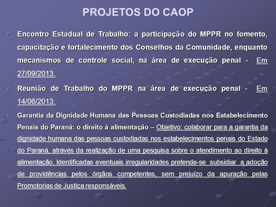 PROJETOS DO CAOP
