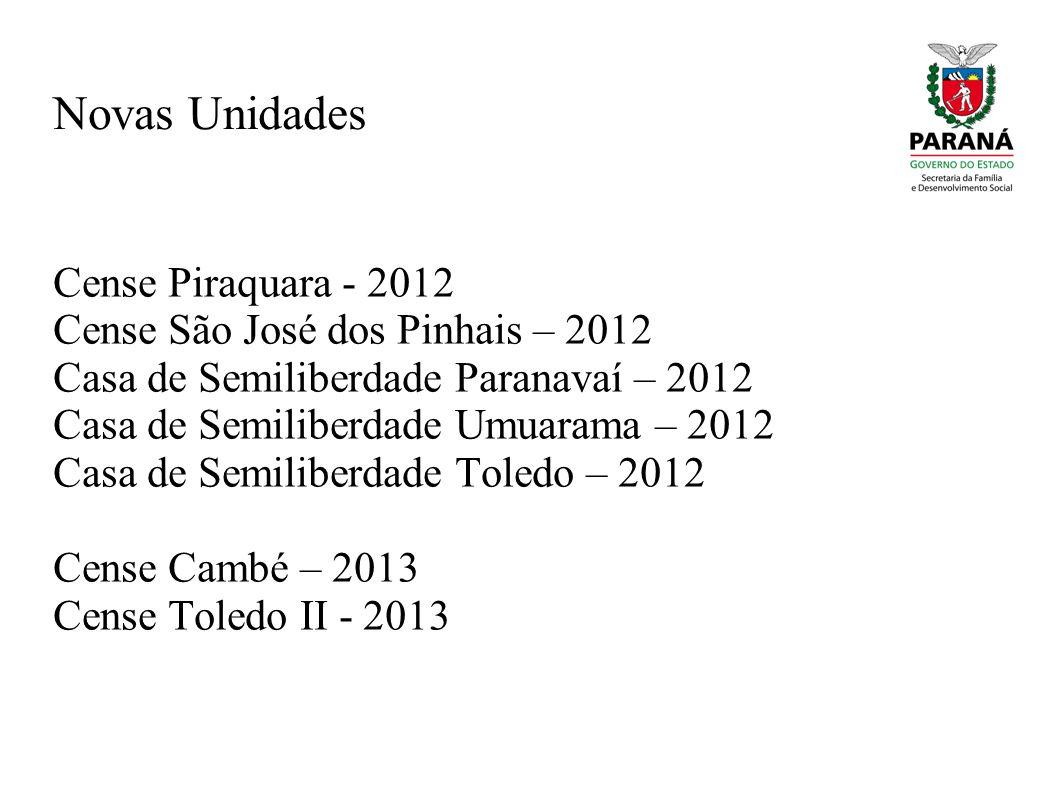 Novas Unidades Cense Piraquara - 2012