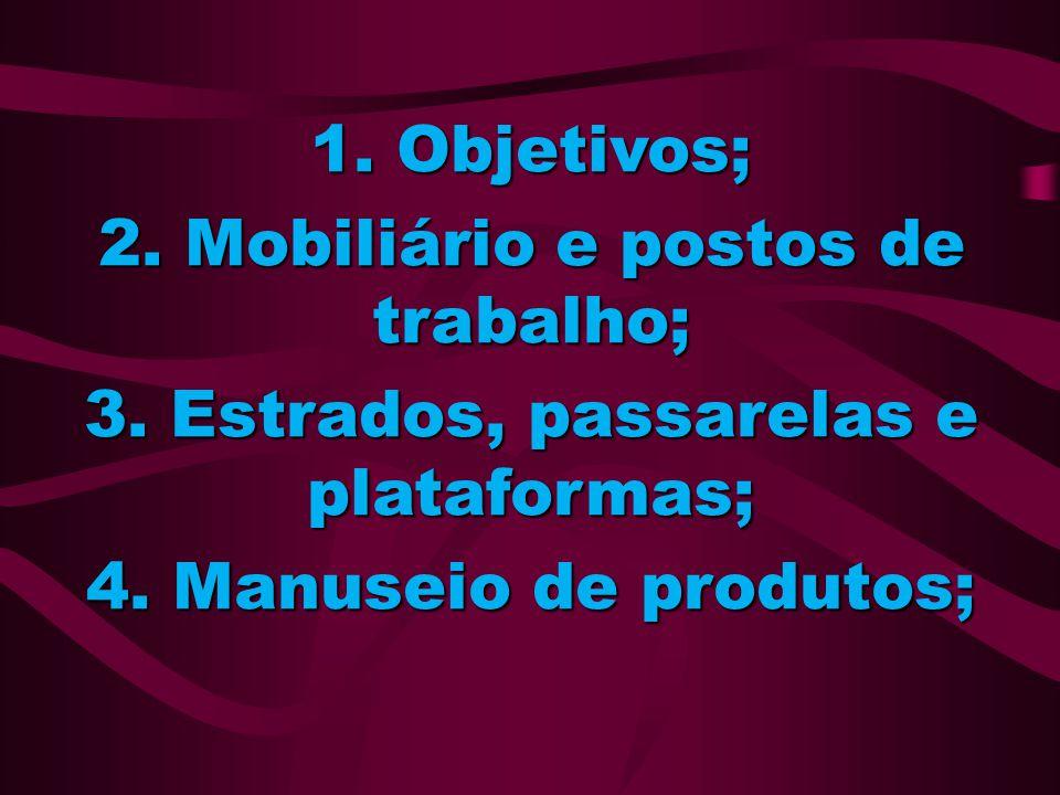 2. Mobiliário e postos de trabalho;