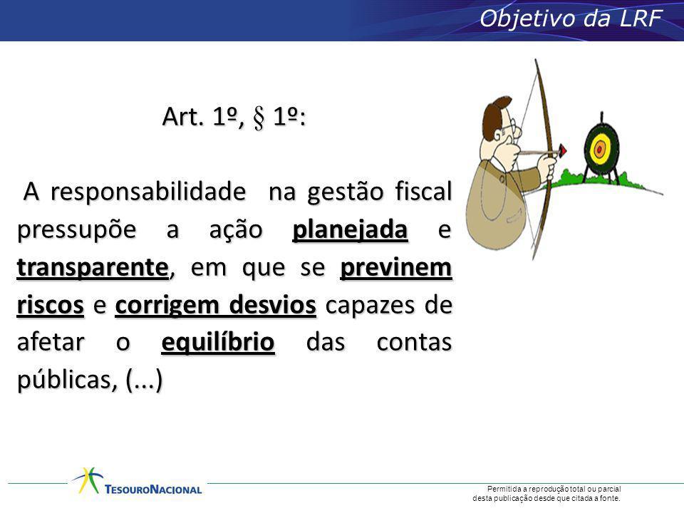 Objetivo da LRF Art. 1º, § 1º: