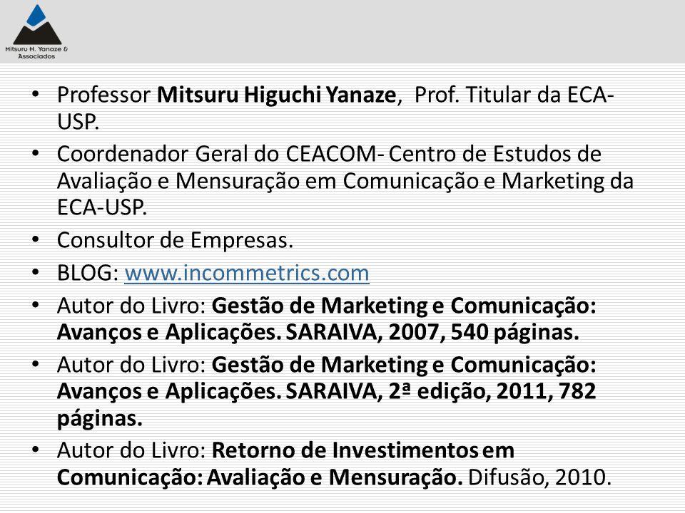 Professor Mitsuru Higuchi Yanaze, Prof. Titular da ECA-USP.