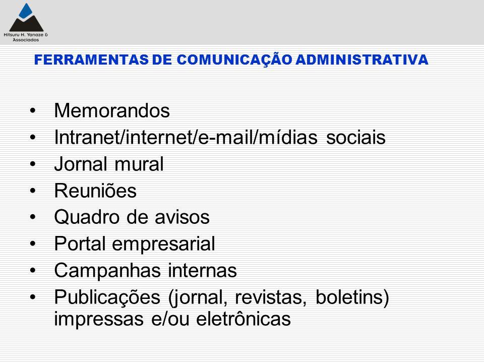 FERRAMENTAS DE COMUNICAÇÃO ADMINISTRATIVA