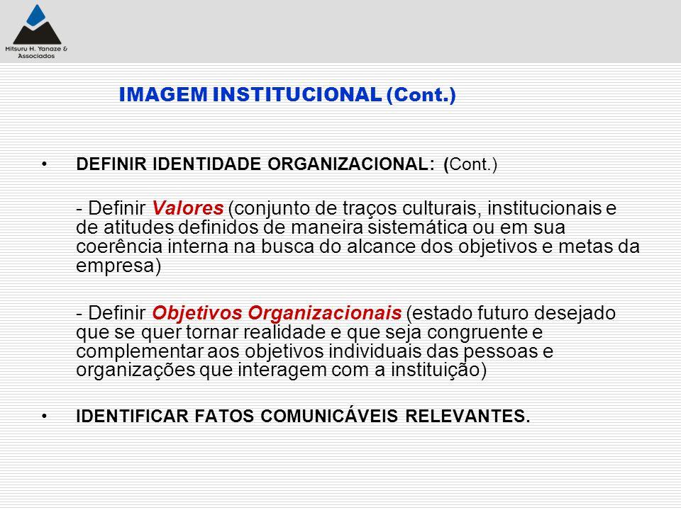 IMAGEM INSTITUCIONAL (Cont.)