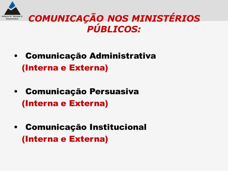 COMUNICAÇÃO NOS MINISTÉRIOS PÚBLICOS: