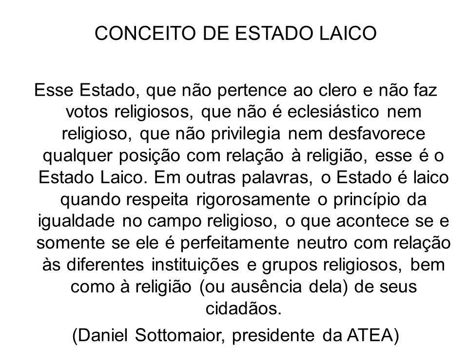 CONCEITO DE ESTADO LAICO