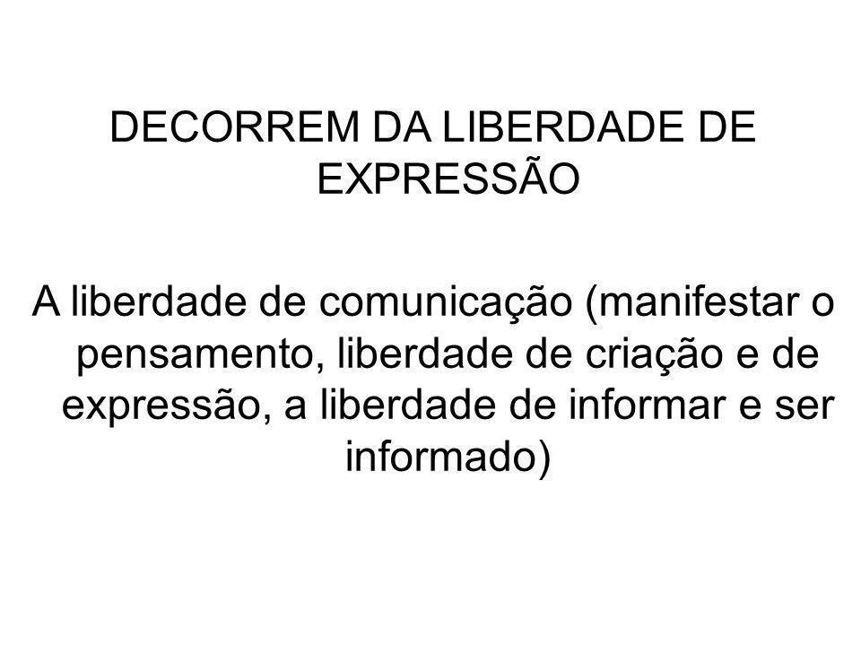 DECORREM DA LIBERDADE DE EXPRESSÃO