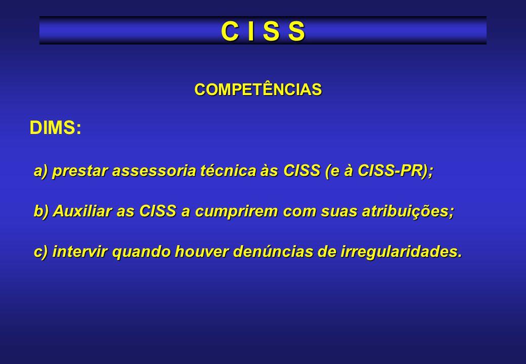 C I S S DIMS: COMPETÊNCIAS