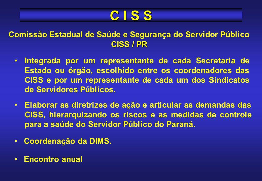 Comissão Estadual de Saúde e Segurança do Servidor Público CISS / PR