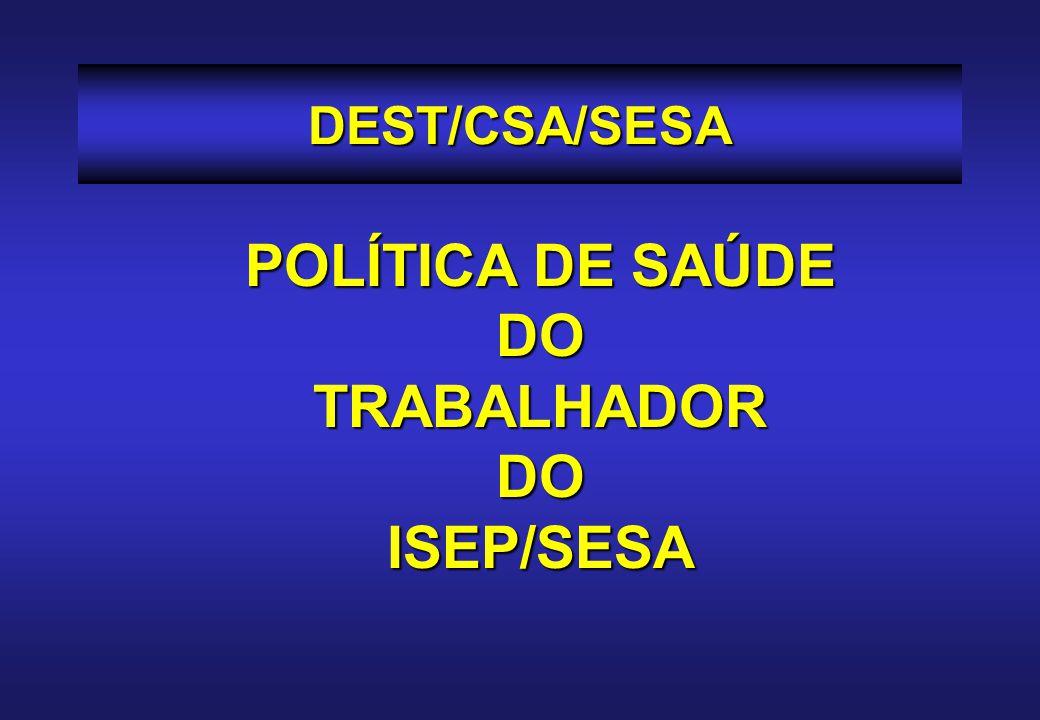 POLÍTICA DE SAÚDE DO TRABALHADOR ISEP/SESA