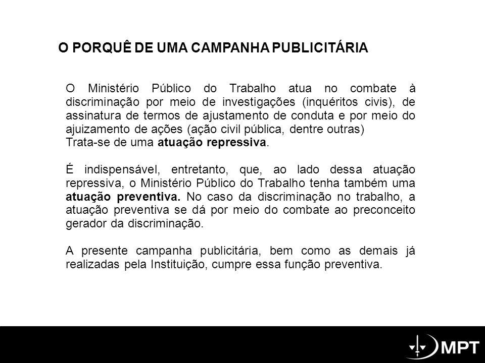 O PORQUÊ DE UMA CAMPANHA PUBLICITÁRIA