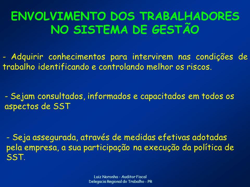 ENVOLVIMENTO DOS TRABALHADORES NO SISTEMA DE GESTÃO