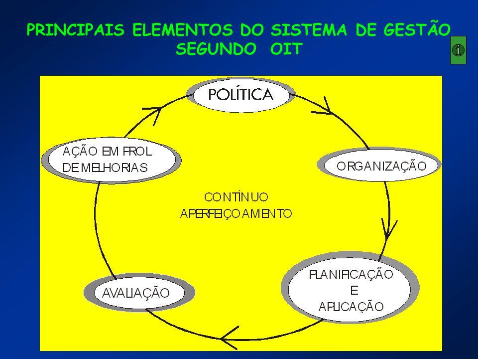 PRINCIPAIS ELEMENTOS DO SISTEMA DE GESTÃO