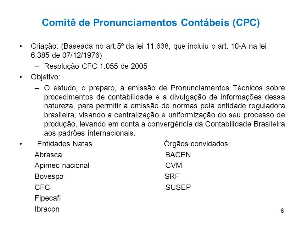 Comitê de Pronunciamentos Contábeis (CPC)