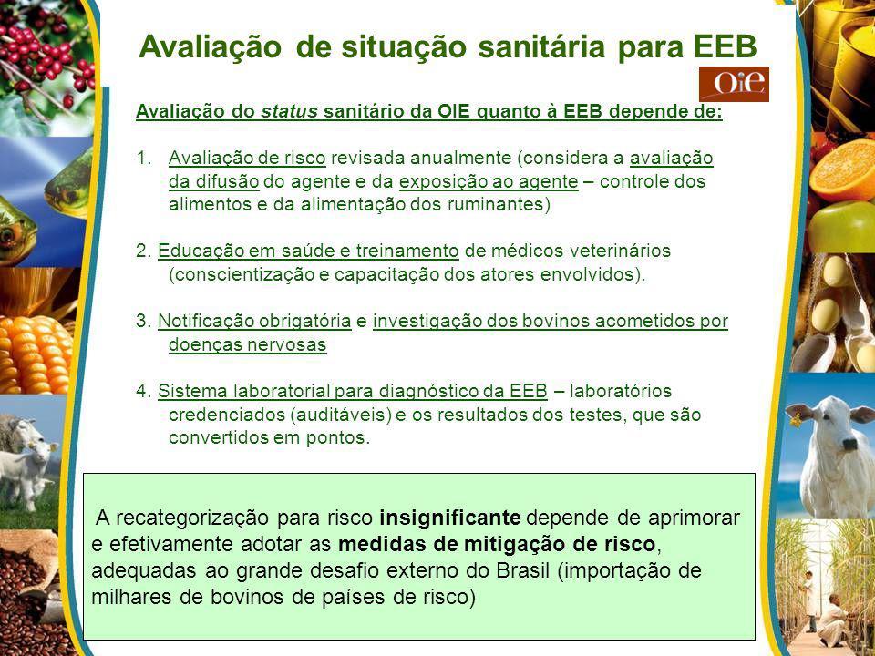 Avaliação de situação sanitária para EEB