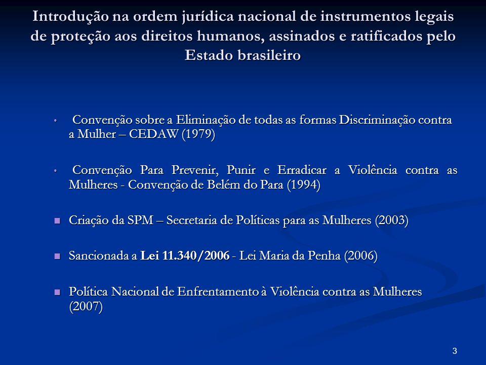 Introdução na ordem jurídica nacional de instrumentos legais de proteção aos direitos humanos, assinados e ratificados pelo Estado brasileiro