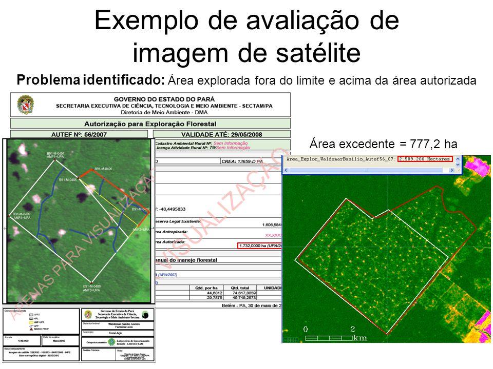 Exemplo de avaliação de imagem de satélite